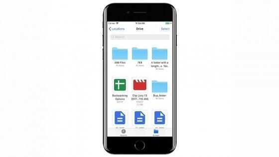 Google Drive, iOS 11 için güncellendi